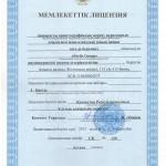 Лицензия на реализацию Мемлекеттык